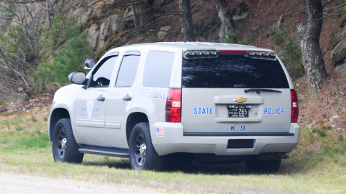 Additional photo  of Rhode Island State Police                     Cruiser 265, a 2013 Chevrolet Tahoe                     taken by Kieran Egan