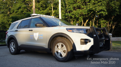Additional photo  of Rhode Island State Police                     Cruiser 138, a 2020 Ford Police Interceptor Utility                     taken by Jamian Malo