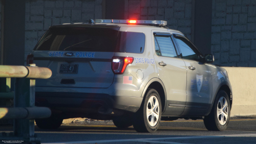 Additional photo  of Rhode Island State Police                     Cruiser 43, a 2016-2019 Ford Police Interceptor Utility                     taken by Kieran Egan