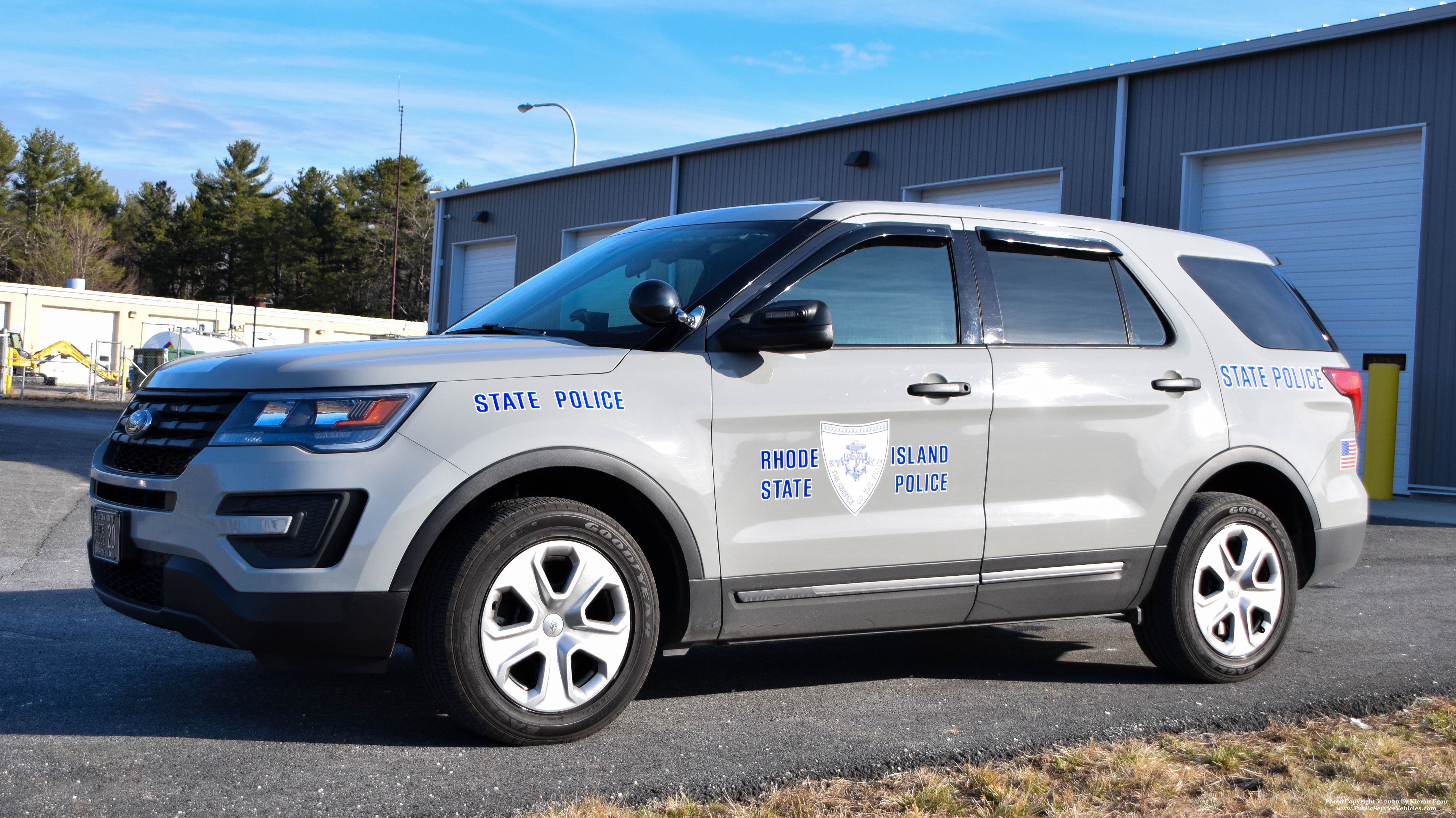 A photo  of Rhode Island State Police             Cruiser 20, a 2017 Ford Police Interceptor Utility             taken by Kieran Egan