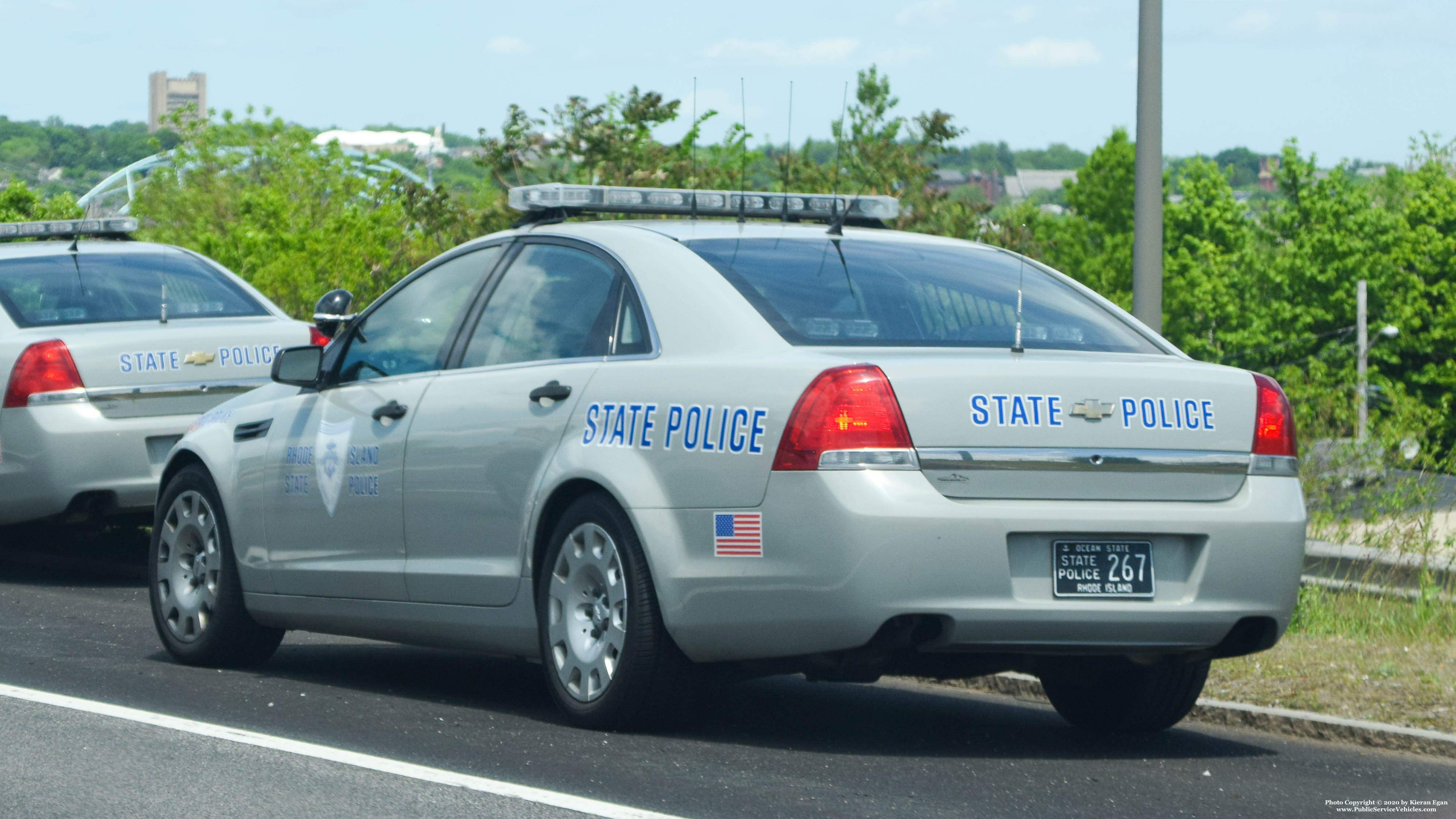 A photo  of Rhode Island State Police             Cruiser 267, a 2013 Chevrolet Caprice             taken by Kieran Egan
