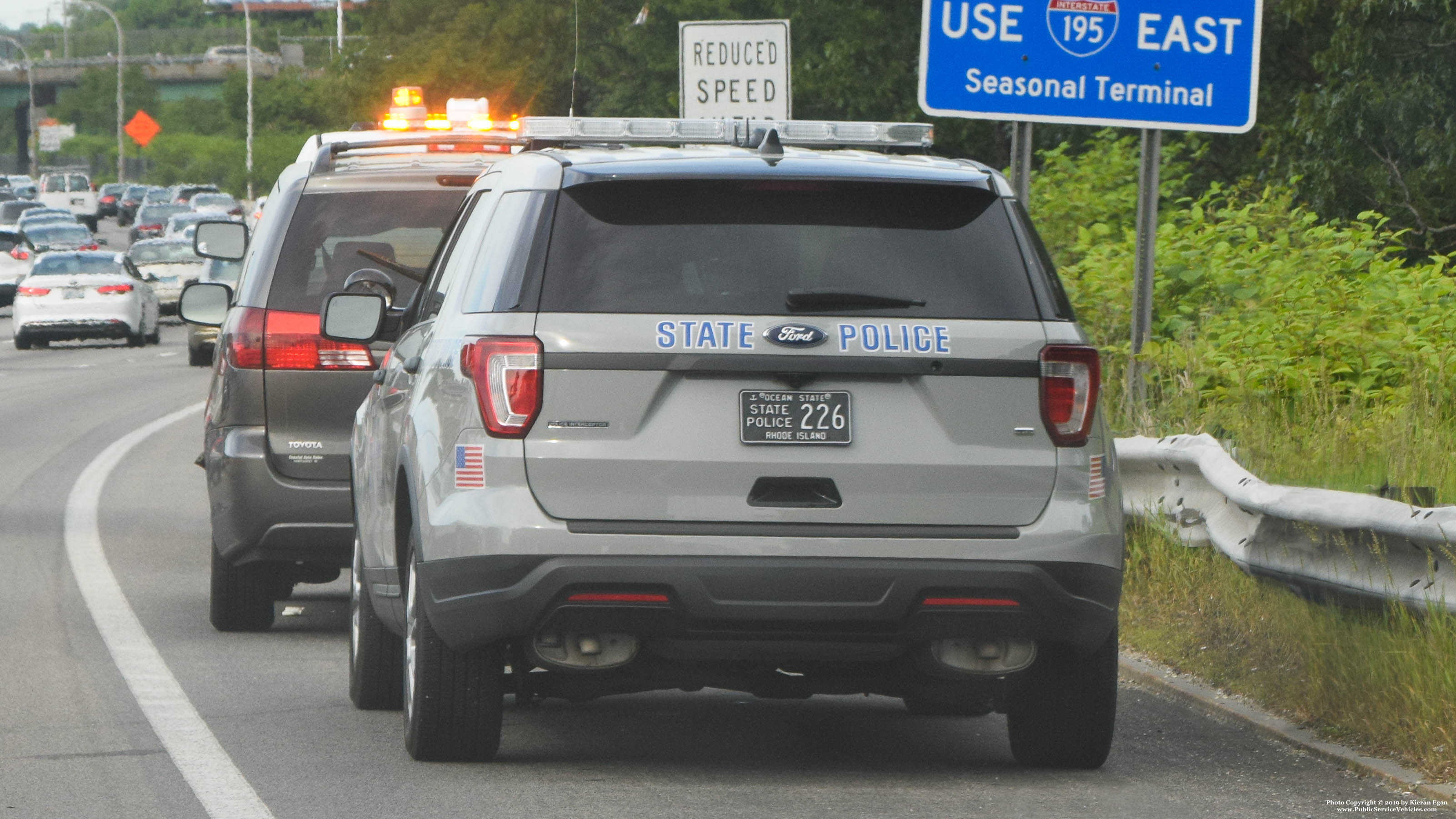 A photo  of Rhode Island State Police             Cruiser 226, a 2016-2019 Ford Police Interceptor Utility             taken by Kieran Egan
