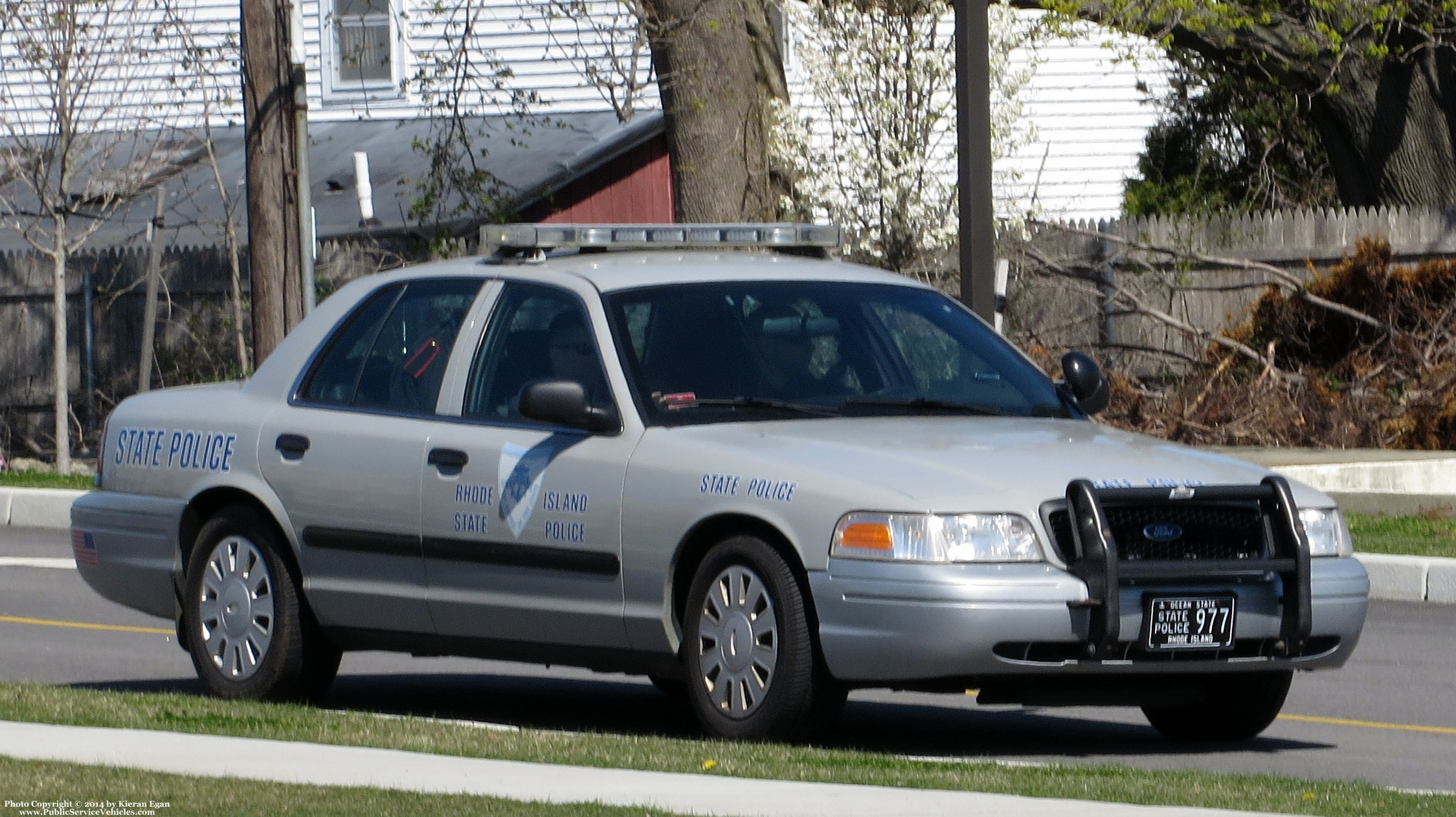 A photo  of Rhode Island State Police             Cruiser 977, a 2006-2008 Ford Crown Victoria Police Interceptor             taken by Kieran Egan