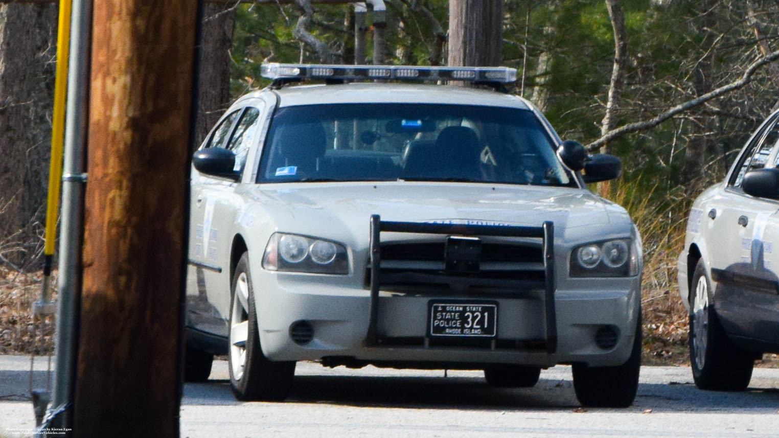 A photo  of Rhode Island State Police             Cruiser 321, a 2006-2010 Dodge Charger             taken by Kieran Egan
