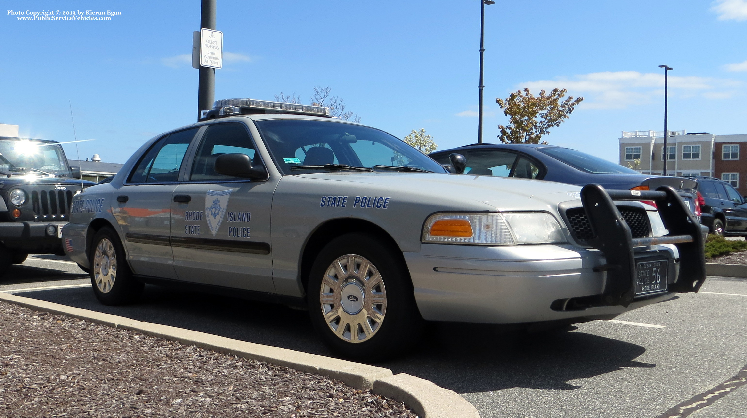 A photo  of Rhode Island State Police             Cruiser 56, a 2003-2005 Ford Crown Victoria Police Interceptor             taken by Kieran Egan