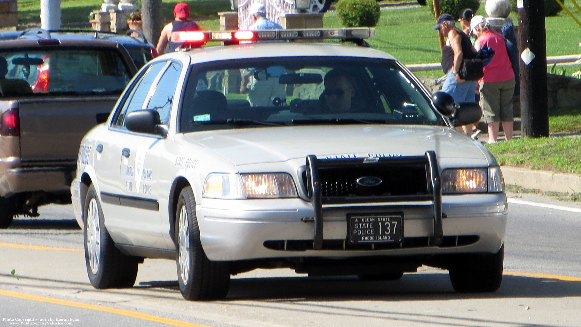 A photo  of Rhode Island State Police             Cruiser 137, a 2006-2008 Ford Crown Victoria Police Interceptor             taken by Kieran Egan