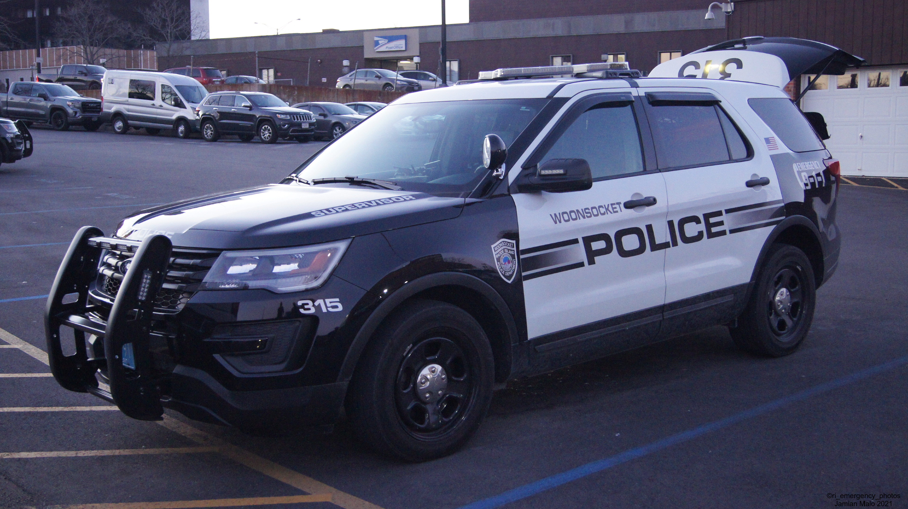 A photo  of Woonsocket Police             Cruiser 315, a 2016-2019 Ford Police Interceptor Utility             taken by Jamian Malo