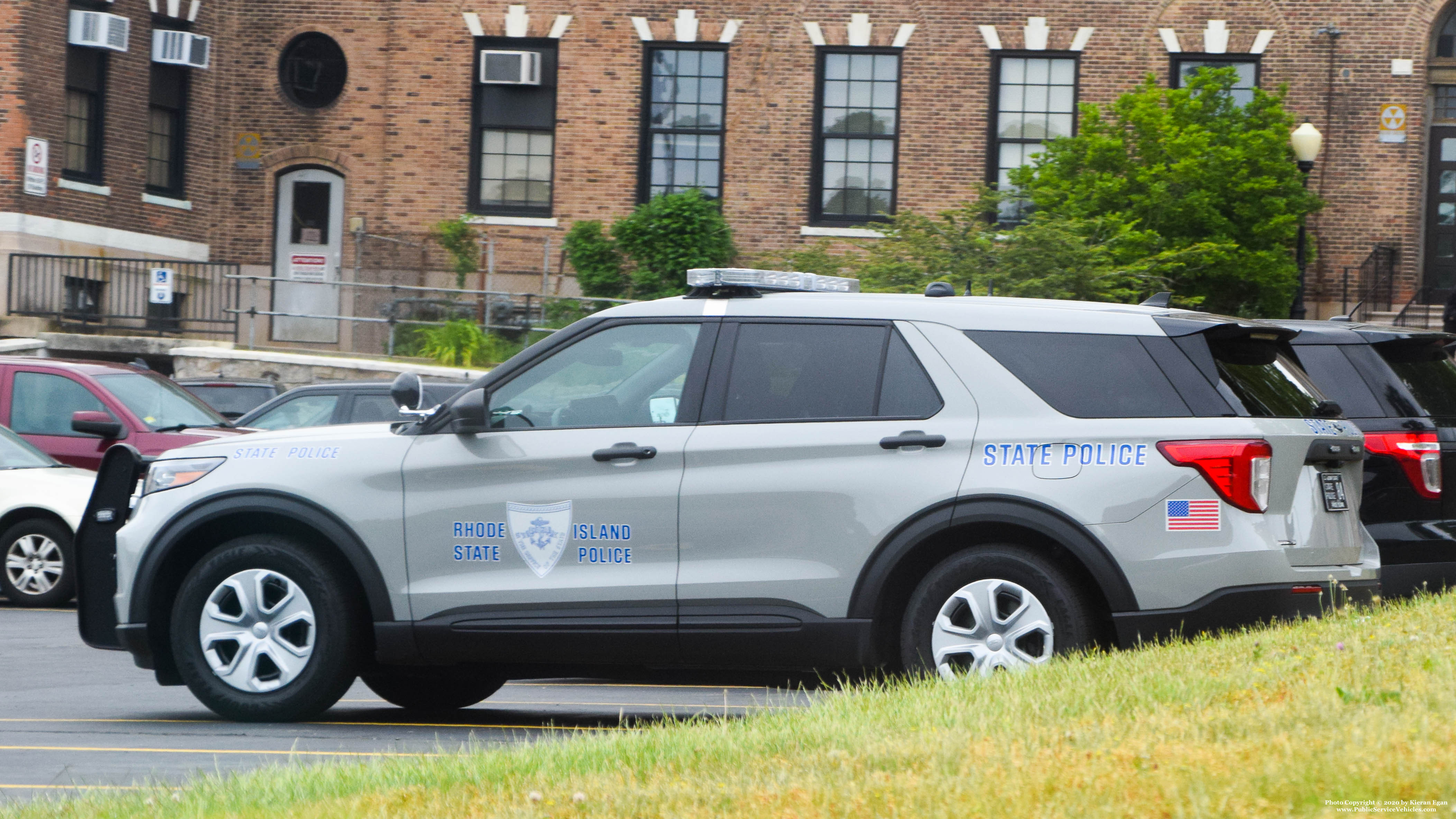 A photo  of Rhode Island State Police             Cruiser 84, a 2020 Ford Police Interceptor Utility             taken by Kieran Egan
