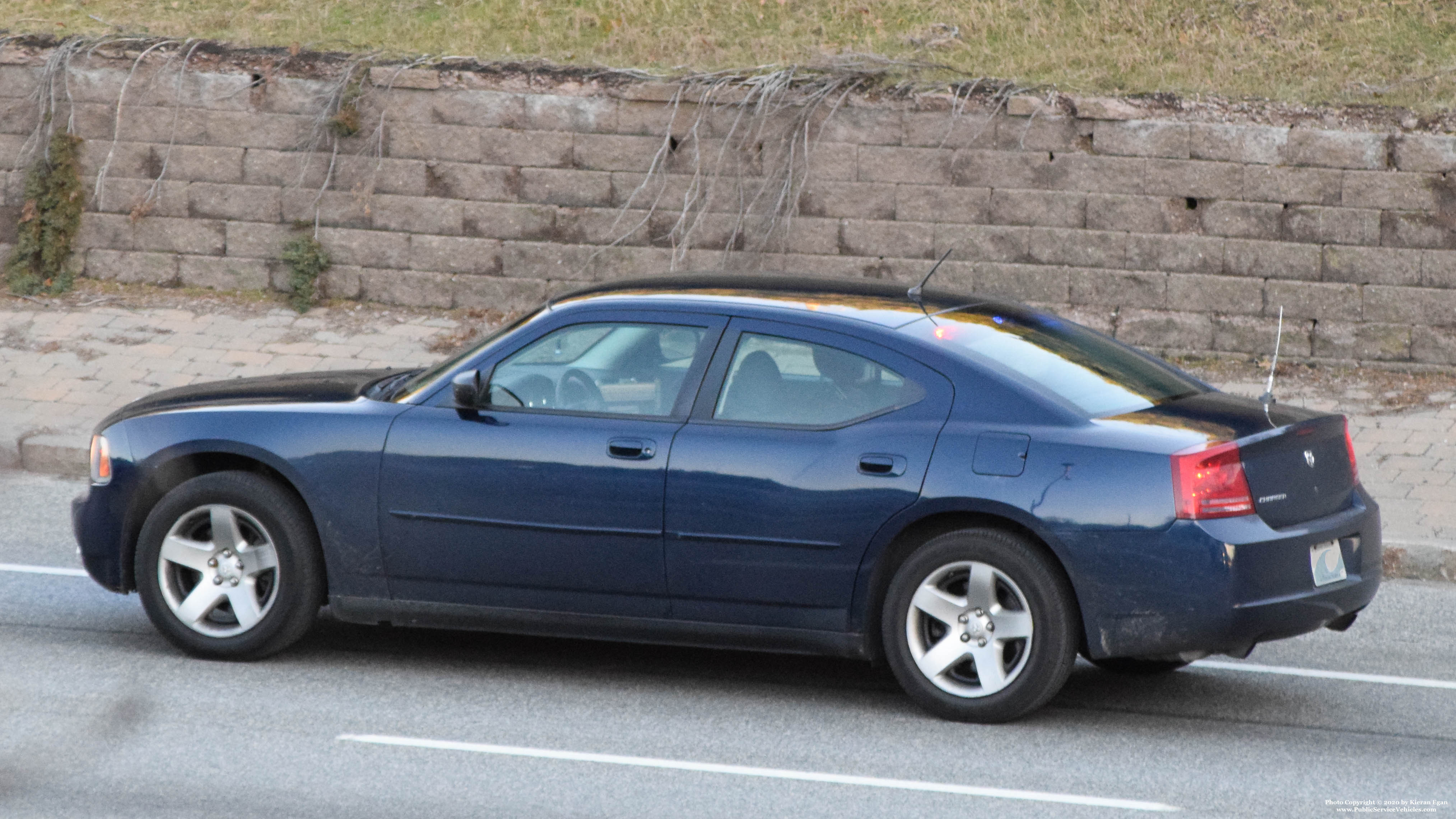 A photo  of Rhode Island State Police             Unmarked Unit, a 2006-2010 Dodge Charger             taken by Kieran Egan