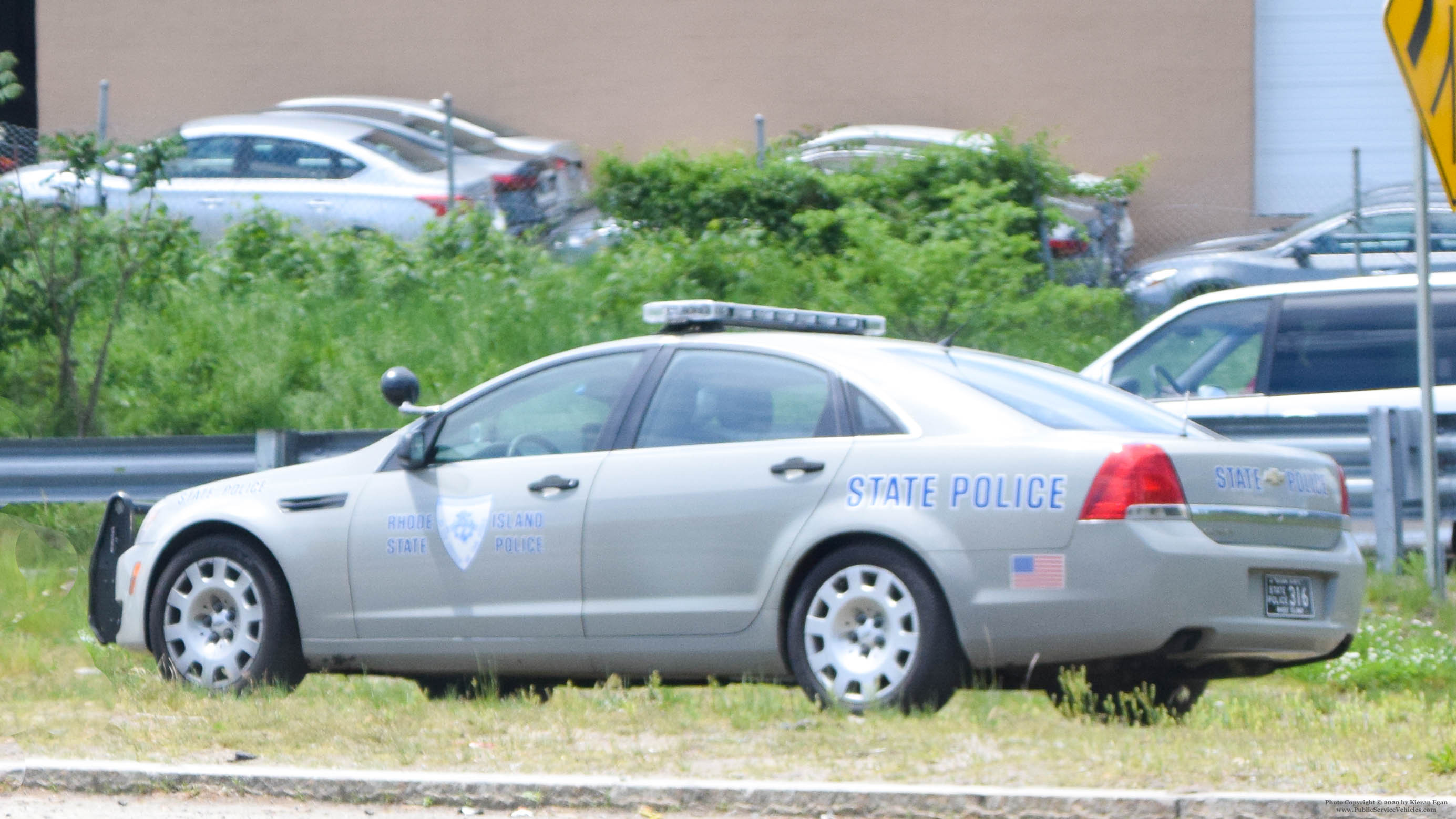A photo  of Rhode Island State Police             Cruiser 316, a 2013 Chevrolet Caprice             taken by Kieran Egan