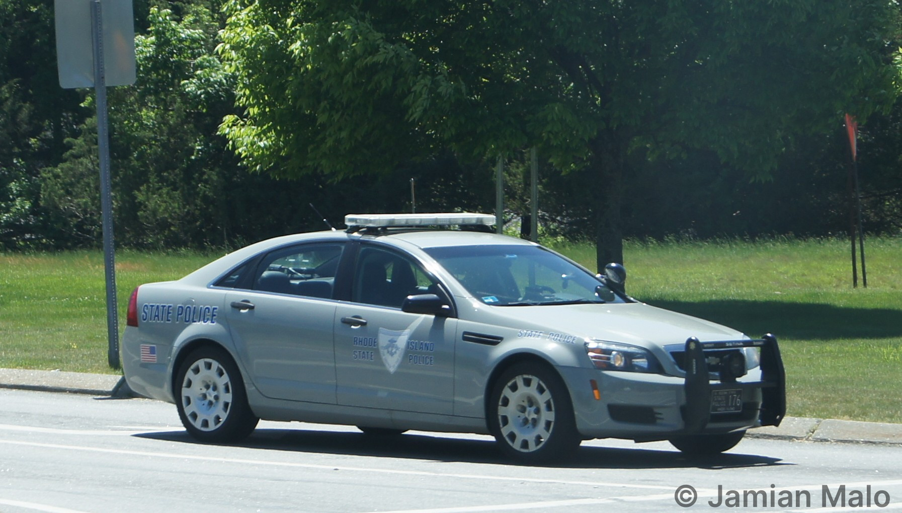 A photo  of Rhode Island State Police             Cruiser 176, a 2013 Chevrolet Caprice             taken by Jamian Malo
