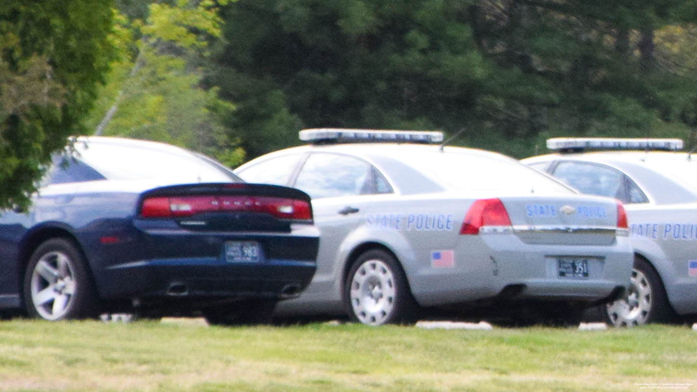 A photo  of Rhode Island State Police             Cruiser 351, a 2013 Chevrolet Caprice             taken by Kieran Egan